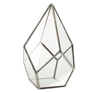 Mini Glas Terrarium Geometrisches Glas Pflanzen Haus Blumentopf Dekoration