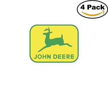 Amazon John Deere 3 4 Stickers 4x4 Inches Car Bumper Window