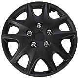 "OxGord WCKT-1009-14-BK Wheel Cover/Hub Cap, Black/Lacquer, 14"""