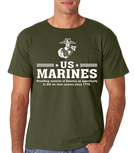 Raw T-Shirts US Marines - Since 1775 - United States Marine Corps Premium Men's T-Shirt (Small, Military (United Premium T-shirt)