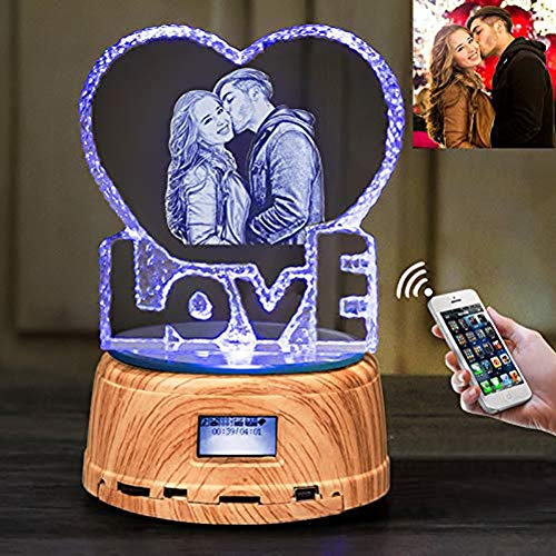 T-Siji Personalized Gifts Picture Lights Bluetooth Speaker Night Light Led Lamp Music Player for Girlfriend ()