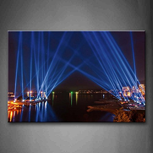 First Wall Art - Blue Light In River Bank Wall Art Painting The Picture Print On Canvas City Pictures For Home Decor Decoration Gift