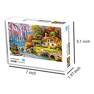 1000 Piece Puzzles Landscape Art Painting About Country Scenery Jigsaw Puzzle for Adults Teen Kids- Difficult and Challenge Funny Family Games, Home Decoration: Toys & Games