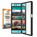 Orzly® FUSION Bumper Case Cover Shell for NEXTBIT ROBIN SmartPhone (2016 Model) - Protective Hard Cover with Impact Absorbing BLACK Rubber Rim and 100% Clear Back Panel