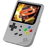 レトロゲームRG300ハンドヘルド16GBメモリ3000ゲーム3.0インチスクリーンミニハンドヘルド子供と家庭用ゲーム機 (グレー)