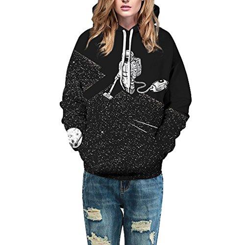 Imprim Hooded Sweatshirt Noir Printemps Semen Casual Longues Pull Tops Noir Sweats Femme Pull Manches Blouse 3D Homme Loose Capuche over 7O7pzq