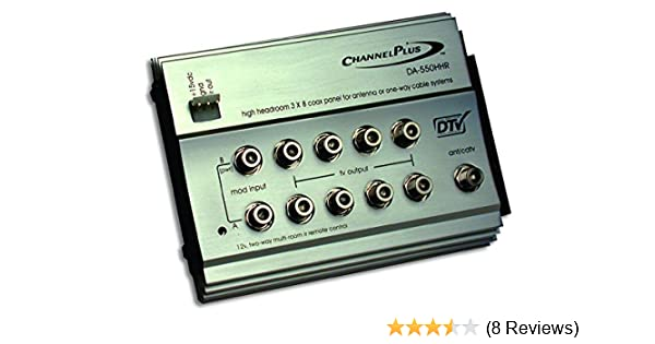Channel Plus DA-8200HHR High-Headroom RF Distribution Amplifier 12V IR Linear