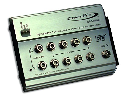 Linear DA-550HHR ChannelPlus High-Headroom RF Distribution Amplifier with 12V IR by ChannelPlus