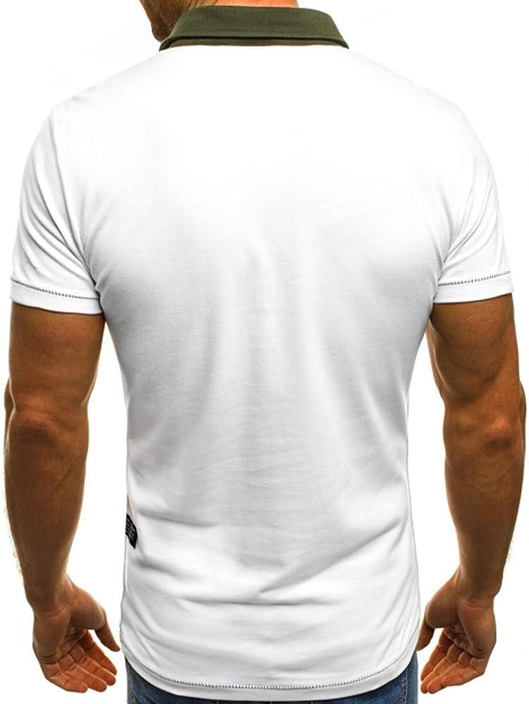 Camiseta para Hombre, Verano Polo Camiseta Deporte Manga Corta ...