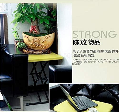 La Table Pliante Table Ménagère Portable Levage Rectangulaire Décrochage Petite Table Carrée Ordinateur Bureaufy4