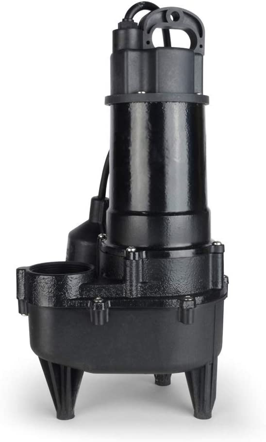 ALOCIAM 3200A Pump, Heavy-Duty, Cast Iron Automatic Submersible Sewage Pump - 4/10 HP, 5250GPH Max