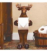 BLACK FOREST DECOR Moose Standing Toilet Paper Holder
