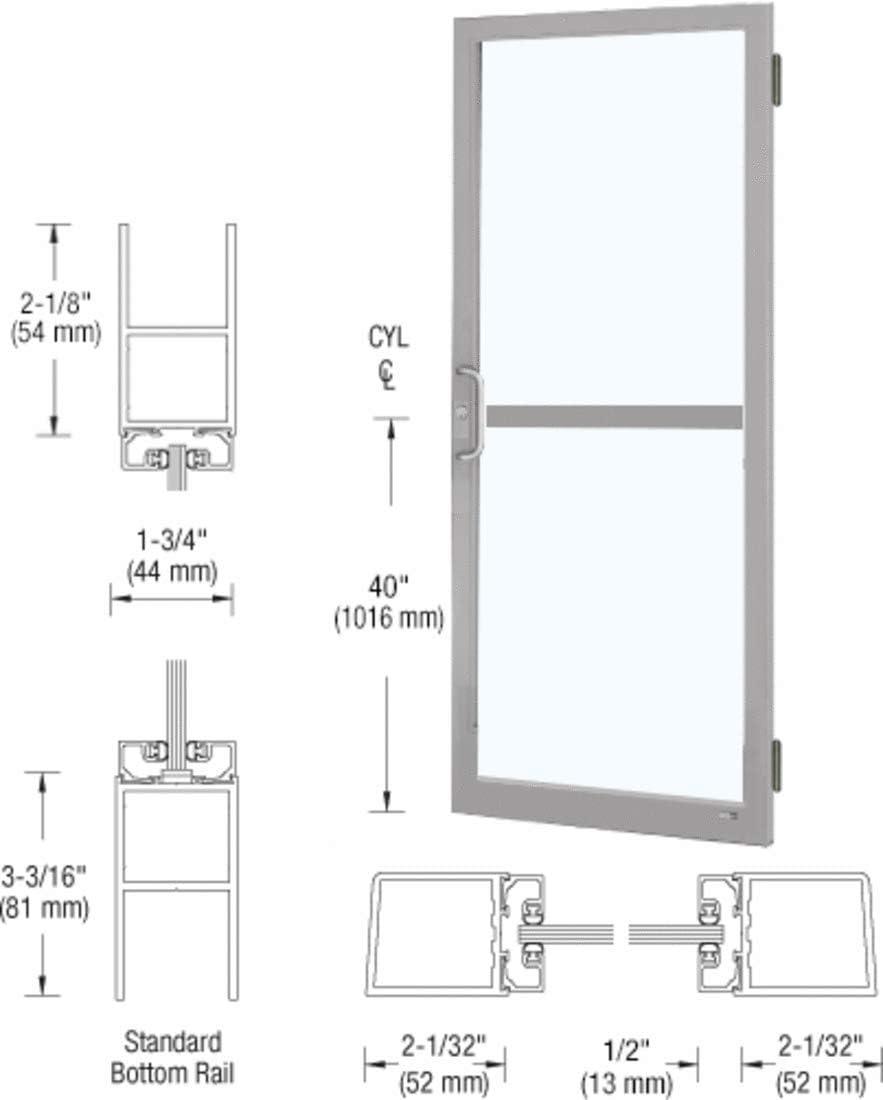 crl-u.s. Clase II de aluminio claro anodizado LH estándar único 36 ...