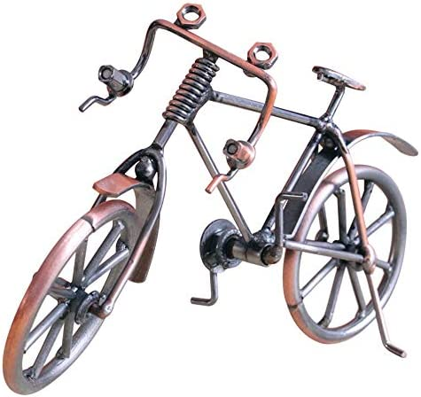 Mandalaa Antique Bike Model Metal Craft Home Decoration Bicycle Figurine Miniatures Children Birthday Toy Gifts Desktop Display Craft Optical Vertical Mouse / Mandalaa Antique Bike Model Metal Craft Home Decoration Bicycle Figurine...