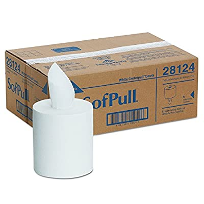 Georgia-Pacific GPC28124 Professional SofPull Center-Pull Perforated Paper Towels,7 4/5x15, White, 320 Per Roll (Case of 6 Rolls) (.1 CASE)