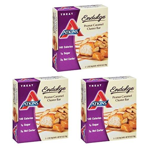 Atkins Endulge Treat, Peanut Caramel Cluster Bar, 1.2 Ounce, 5 Count (Pack of (Endulge Bar Peanut)