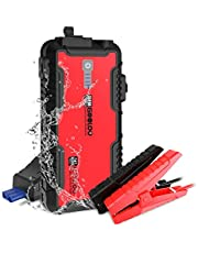 GOOLOO GT1500 1500A Peak SuperSafe Car Jump Starter (Up to 8.0L Gas or 6.0L Diesel Engine) with USB Quick Charge, In & Out Type-C,12V Portable Water Resistant Power Pack Auto Battery Booster Phone Charger Built-in LED Light