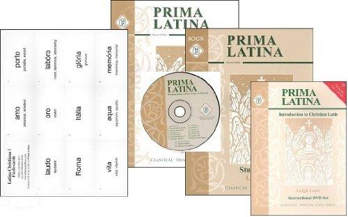 Prima Latina SET -- Teacher, Student, Pronunciation CD, DVD and Flashcards