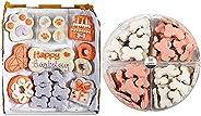 Wüfers Dog Birthday Girl Dog Cookie Box + Pink Endless Bones Party Bundle   Handmade Hand-Decorated Dog Treats
