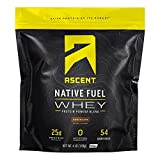 Ascent Native Fuel Whey Protein Powder - Chocolate - 4 lbs