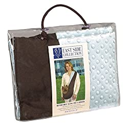 East Side Collection Reversible Sling Pet Carriers — Versatile Polyester Over-the-Shoulder Carriers for Small Dogs, Brown/Blue