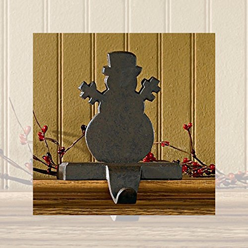 Park Designs Iron Snowman Stocking Hanger,Black