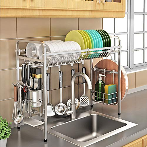 KURTZY 304 Stainless Steel Over The Sink Rack for Kitchen, Dish Drainer Storage and Utensils Holder –Dish Drying Rack Space Save & Organizer Price & Reviews