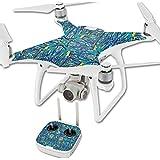 MightySkins Protective Vinyl Skin Decal for DJI Phantom 4 Quadcopter Drone wrap cover sticker skins Blue Veins