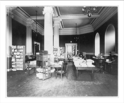 Historic Print (L): Library of Congress, Processing Department, card revision...