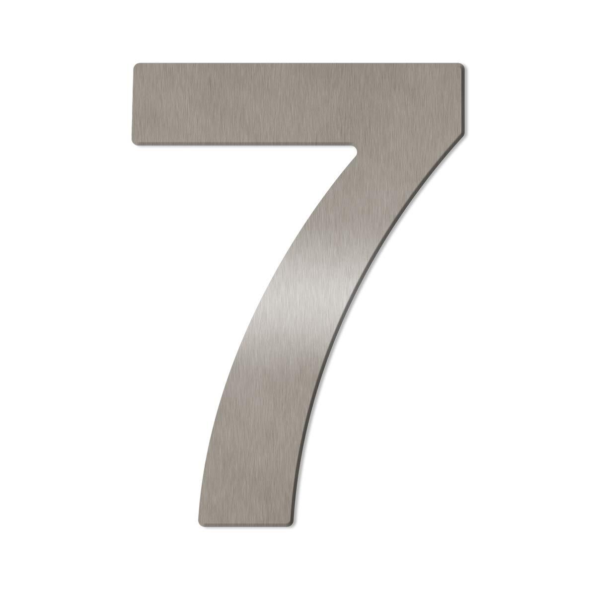 8 inkl fein geb/ürstet Montagematerial//H: 200mm // Farbe: silber Gro/ße Thorwa/® Design Edelstahl Hausnummer