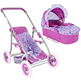 You Me 3 in 1 Convertible Doll Pram Purple