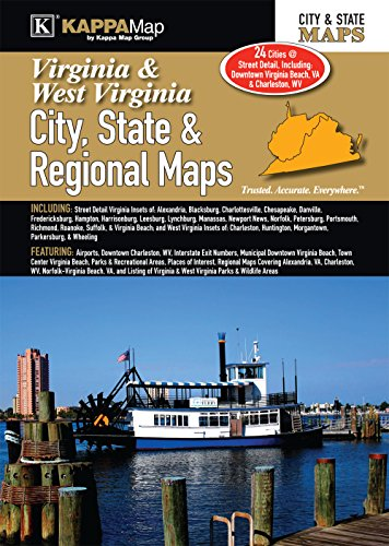Virginia & West Virginia City, State, & Regional Maps