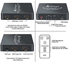 Dinger HDMI Splitter 2 Port HDMI Splitter 3 in 2 out HDMI