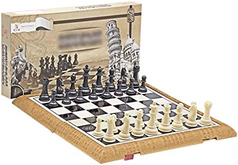 Schaak High Quality Chess Set Magnetic Travel Folding Board Games Portable Gifts And educatief speelgoed for volwassenen Kids Teens 5-Size schaakset (Grootte : XX-Large)