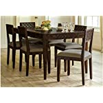 CIZEN Sheesham Wood Dining Set 6 Seater | for Home & Dining Room | Wooden Dinning Table with 6 Chairs | Modern Dining Room Set | Included Grey Cushion | Dark Walnut Finish