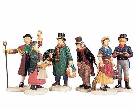 lemax christmas village people figurines set of 6 - Lemax Christmas Village