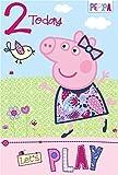 Gemma International, biglietto di compleanno di Peppa Pig, per i 2 anni (lingua italiana non garantita)
