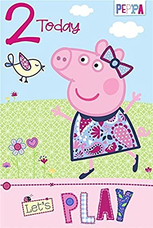 Gemma International Peppa Pig Age 2 Birthday Card Amazon
