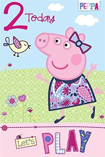 Gemma International, biglietto di compleanno di Peppa Pig, per i 2