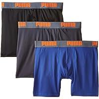Calzoncillo tipo boxer para hombre PUMA de 3 unidades, azul /naranja, medio
