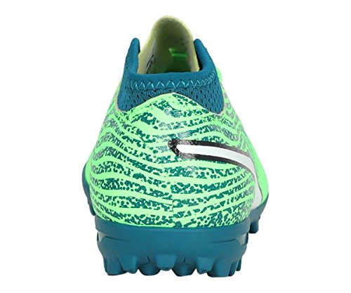 Puma One 18.4 TT Jr, Zapatillas de Fútbol Unisex Niños Verde (Green Gecko-puma White-deep Lagoon)