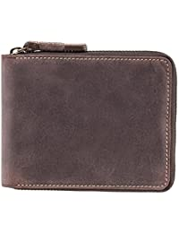 Hunter 702 Zip Around Bifold Leather Oil Tanned Distressed Wallet