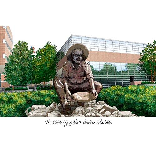 - Landmark Publishing NC993 University of North Carolina44; Charlotte Campus Images Lithograph Print
