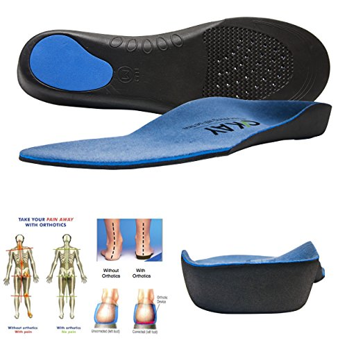 Arch Support Orthotic Shoe Insoles for women-men Shoe Inserts Recommended for Plantar Fasciitis Fallen Arches or Flat Feet Pain Relief, Injury Prevention and Faster -