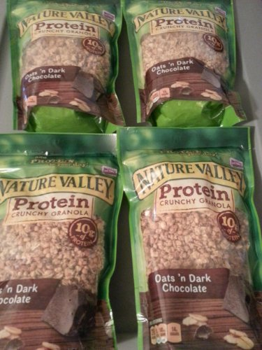 Nature Valley High Protein Granola - Oats N Dark Chocolate, 11 Ounce (4 bags)