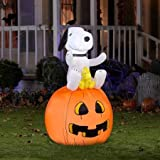 Peanuts Halloween Snoopy Woodstock Blowup Inflatable Lawn Decoration