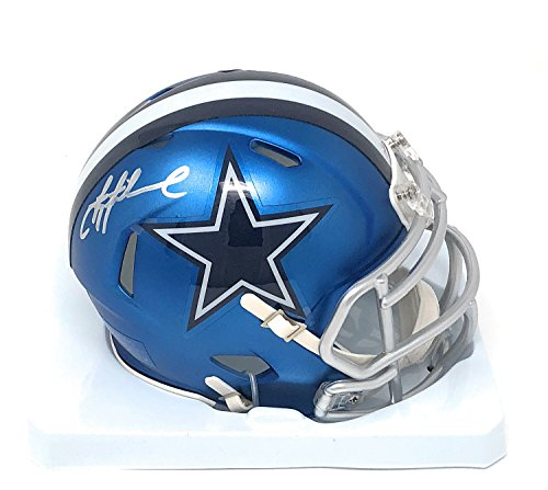 Troy Aikman Dallas Cowboys Signed Autograph Blaze Speed Mini Helmet Aikman GTSM Player Hologram