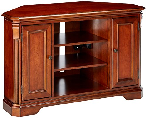 Hooker Furniture Brookhaven Corner Console, Medium (Distressed Cherry Tv Stand)