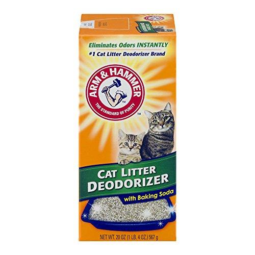 Arm & Hammer Cat Litter Deodorizer with Baking Soda, 20.0 OZ (5 Pack - 20 Ounce)