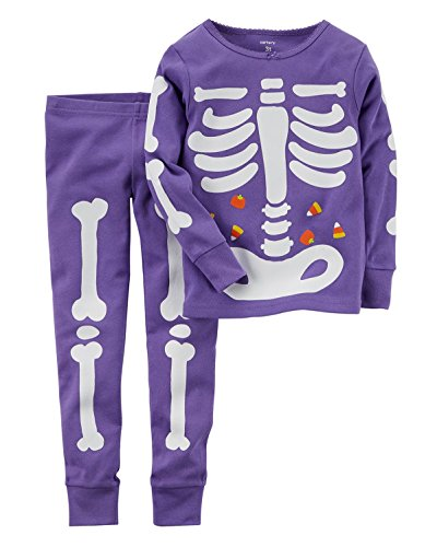 3347493b0c1c Carter s Little Girls  Glow-in-the-dark Halloween Pajamas (5T
